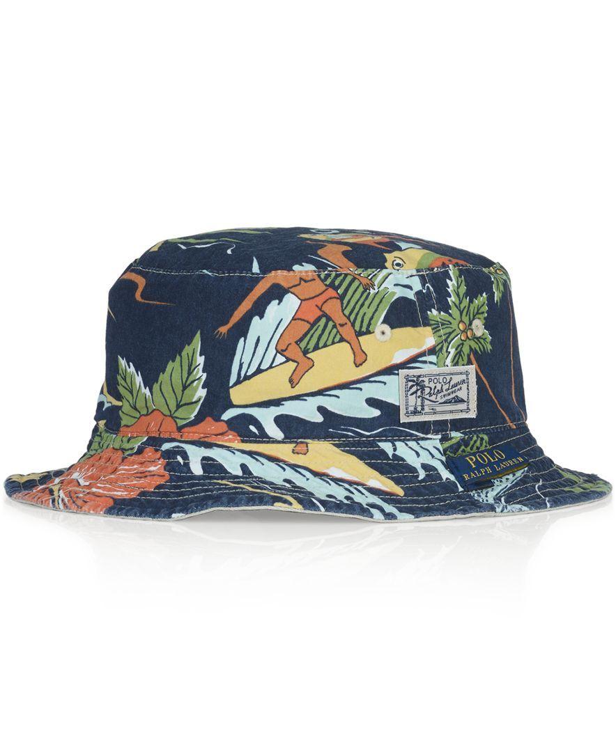 Polo Ralph Lauren Reversible Tropical Bucket Hat  65b4a591e7c