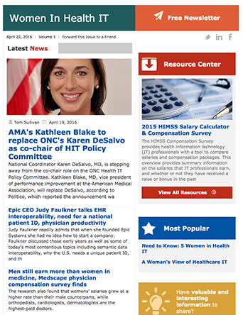 Women In Health It Monthly Newsletter  Healthcare It News  Ms