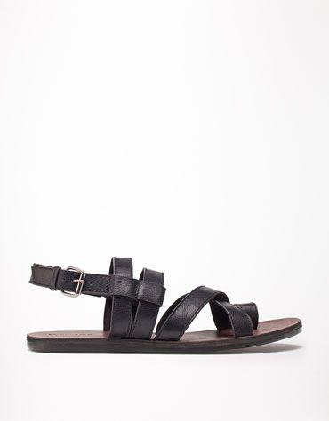 4ab6c42e6 Bershka Romania - LEATHER Roman sandals