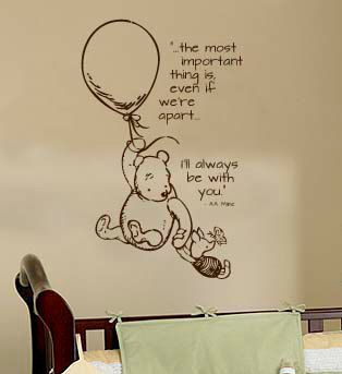The Most Important Thing Is Even If We Re Apart I Ll Always Be With You Winnie The Pooh Nursery Disney Themed Nursery Baby Decor