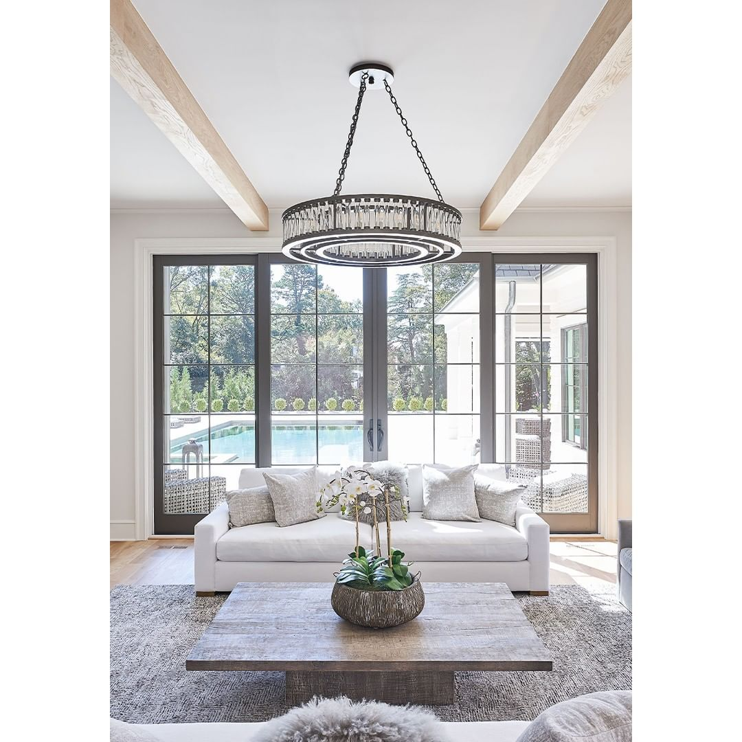 Butler Lighting On Instagram Tip Chandeliers Should Hang 34 40 Inches Below An 8 Foot Ceiling For Each Additional In 2020 Chandelier Decor Living Room Inspo Decor