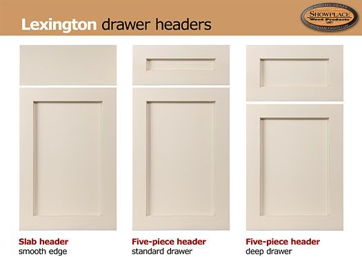 lexington-cabinets: a flat-panel door with a notched inner frame