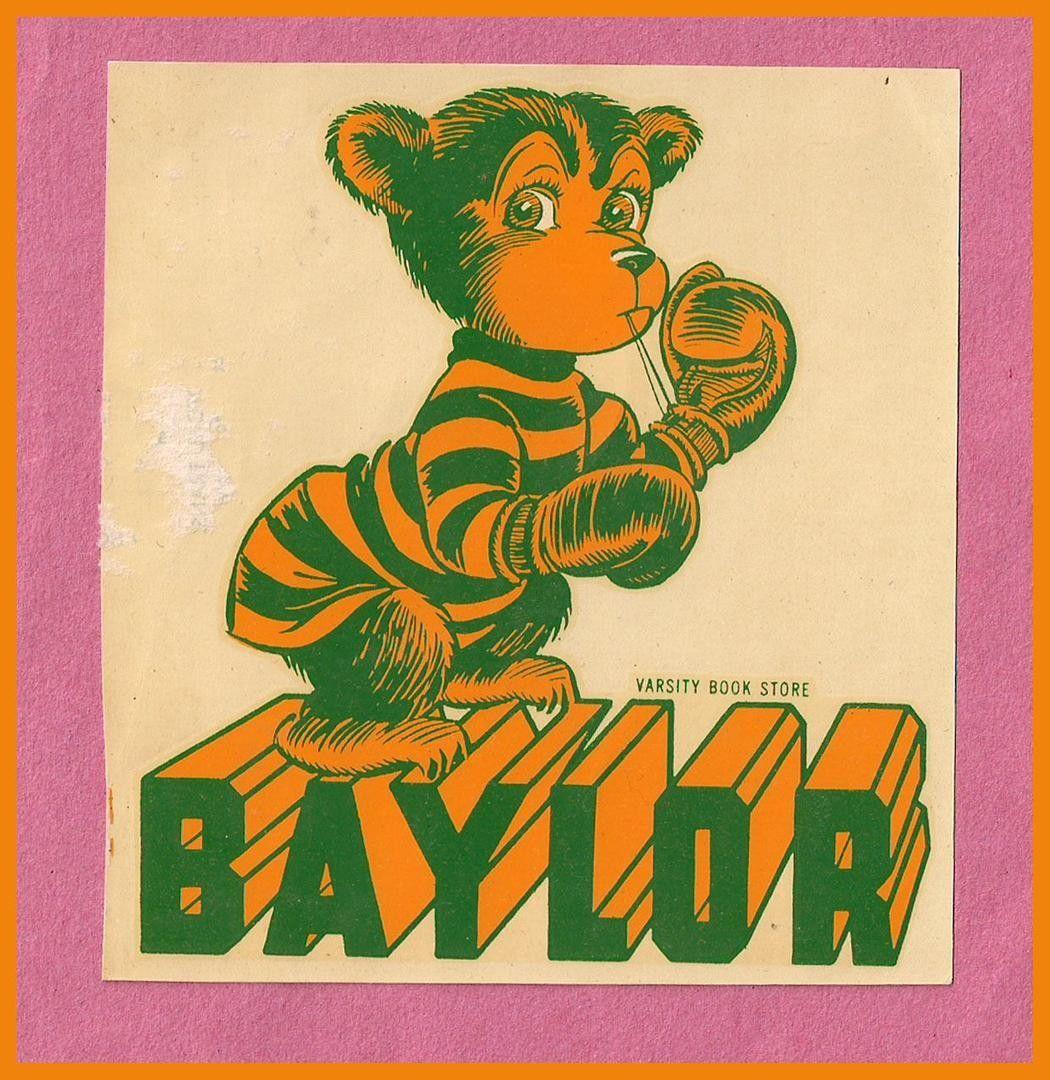 VINTAGE 1950's Baylor University Bears Football Mascot ... Ucla Logo Bear