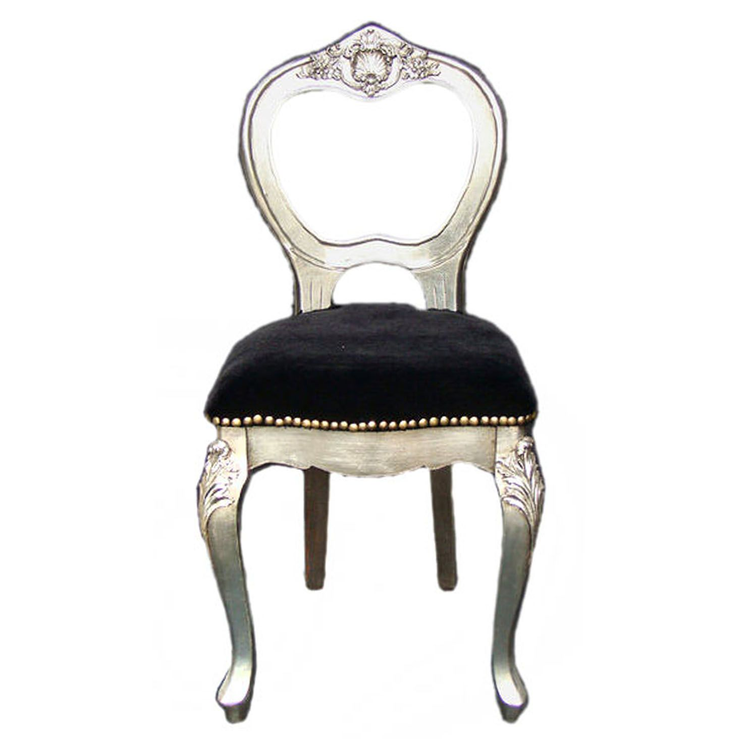 silver black classic chair