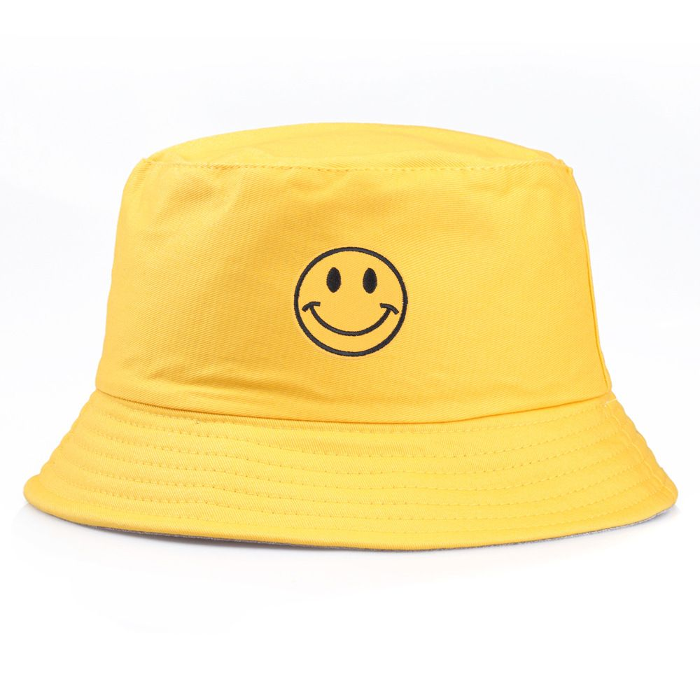 Custom Fisherman Hat Fishing Bucket Cap Smiling Face Embroidery Logo Custom Portable Basin Cap Brim Http In 2020 Bucket Hat Fashion Bucket Hat Outfit Outfits With Hats