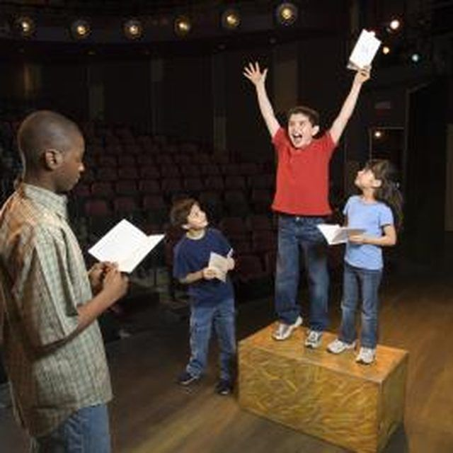 Short, funny skits are excellent for children's rehearsals