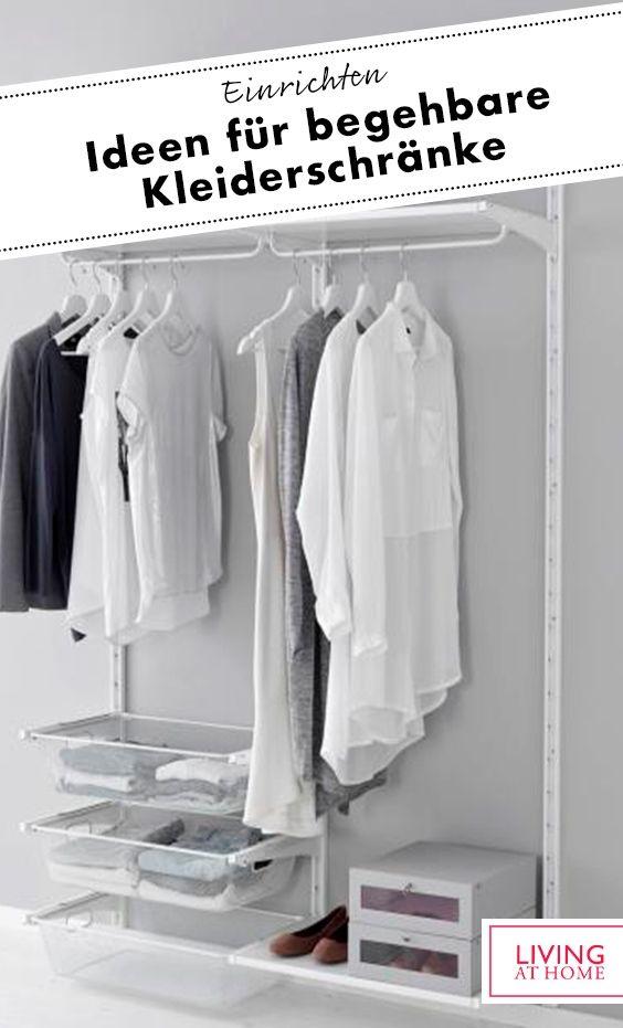 Begehbare Kleiderschränke – Systeme für offene Kleiderschränke