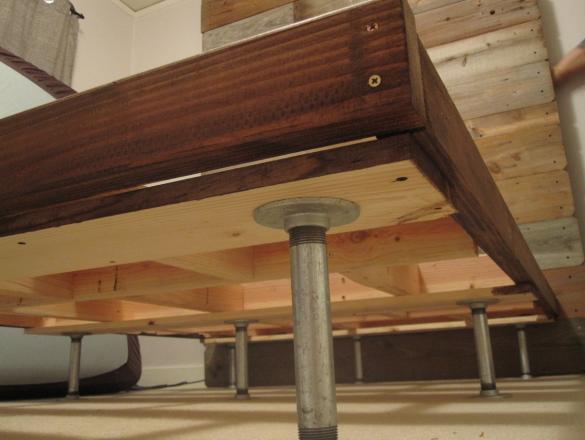 DIY Wood Bed Frame | Diy Wood Queen Bed Frame Building PDF Plans ...