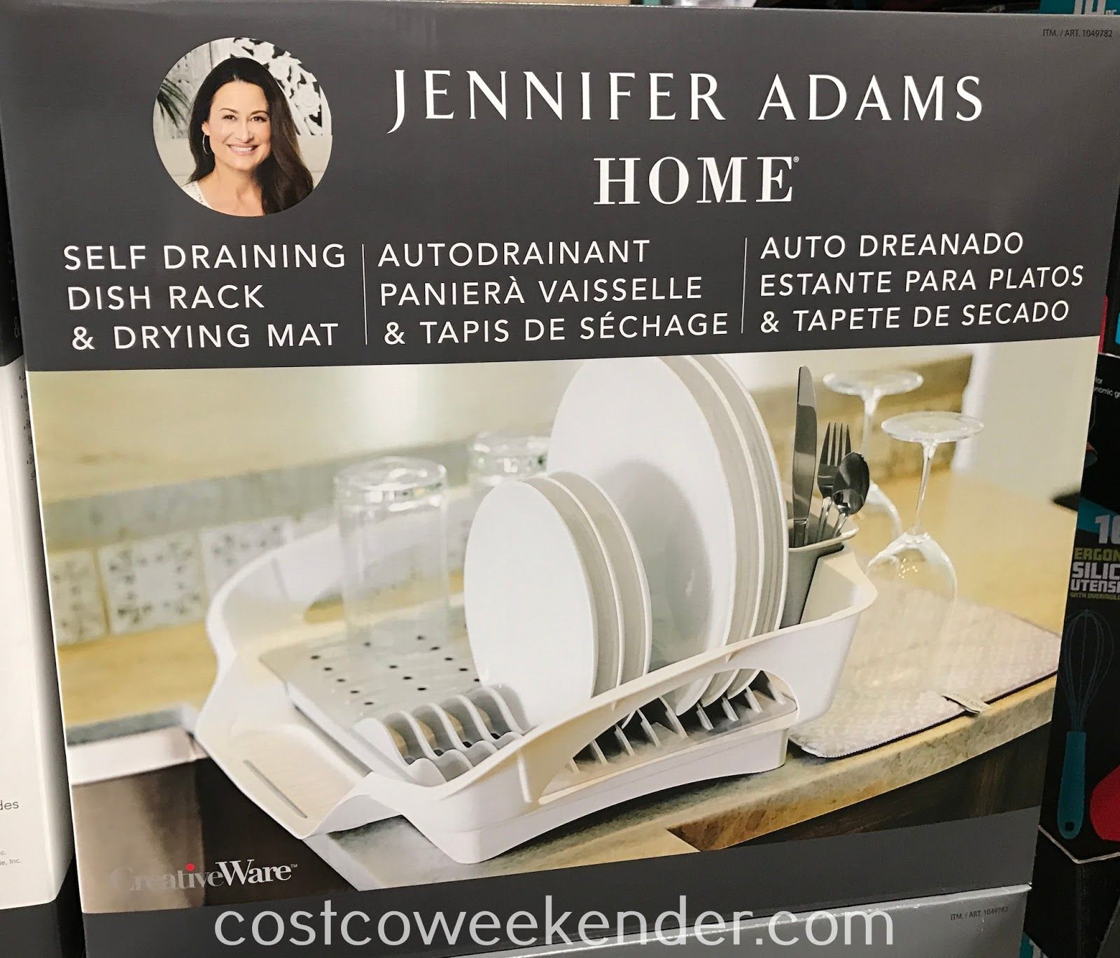 Jennifer Adams Home Self Draining Dish Rack Amp Drying Mat