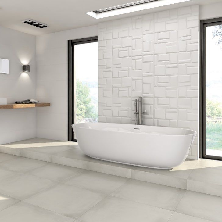 ??Suggestive, daring & sophisticated???  The ceramic tile coating White&Co series follows in the footsteps of the bas-relief trend.?  .?  .?  .?  #grespaniaceramica #grespania #tilestyle #instagood #instatiles #ceramics #tiles  #interiordesign http://ow.l