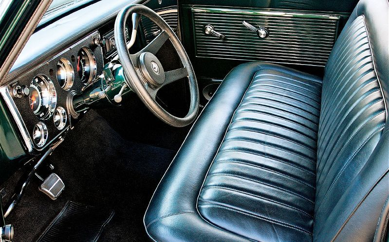 1967 Chevy C10 Pickup Truck Custom Leather Bench Seats