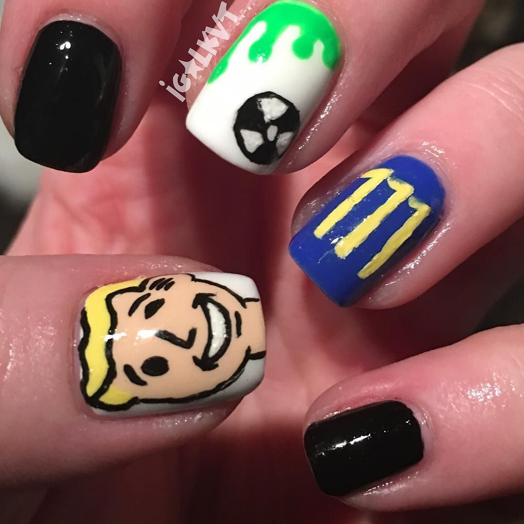 My fallout 4 nails for the hubbys birthday! #nailsbykayleen #nails ...