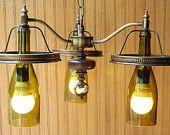 Wine Bottle Chandelier-Hanging Light
