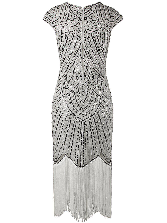 Vijiv s long prom dresses beaded sequin art nouveau deco flapper