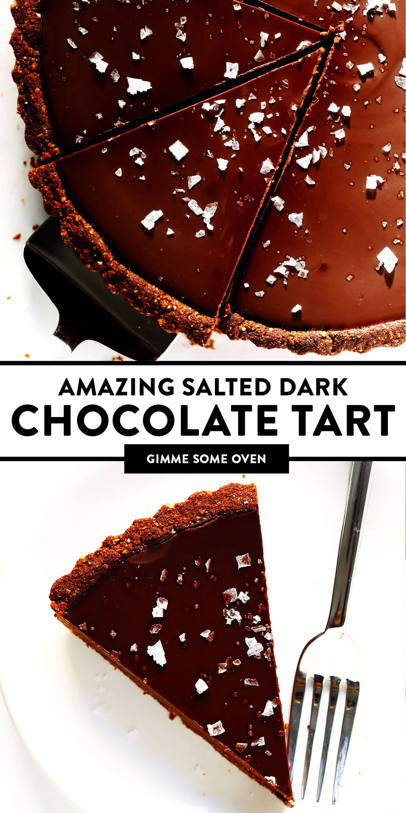 The Most Amazing Salted Dark Chocolate Tart | Gimm