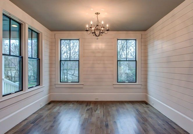 white shiplap with white trim white shiplap wall on designers most used wall color id=54176