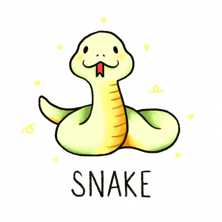 Drawings Drawings Cute Cartoon Drawings Snake Drawing Cute Animal Drawings Kawaii