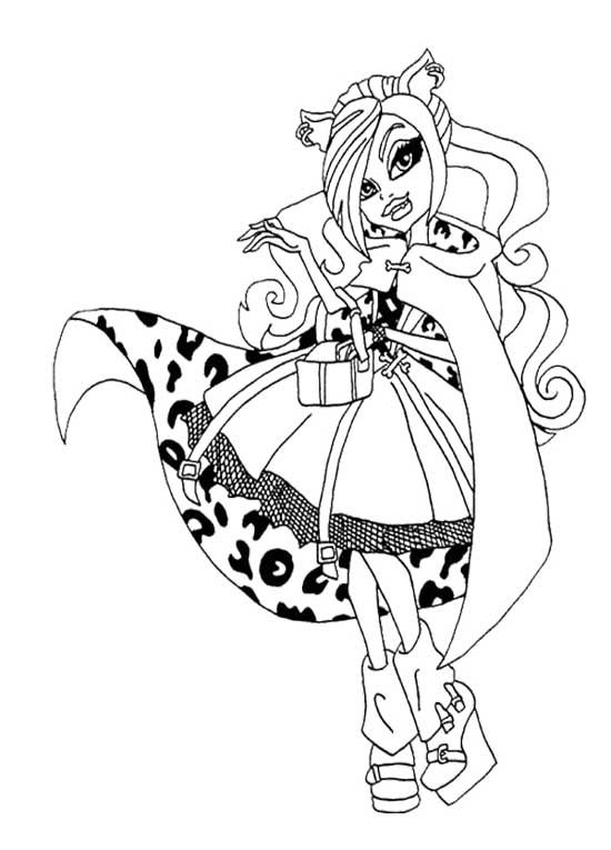 Beautiful Clawdeen Wolf Coloring Page Printables Pinterest - new coloring pages for rescue bots
