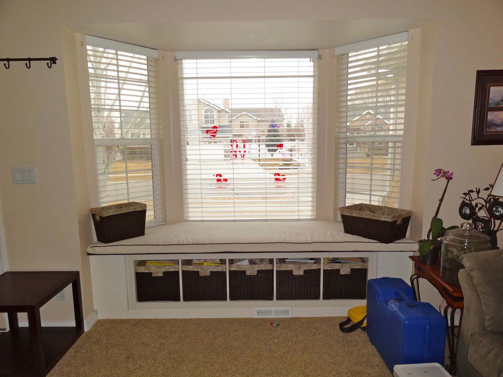 bay window seat on the cheap - ikea expedit bookcase | Kitchen ...
