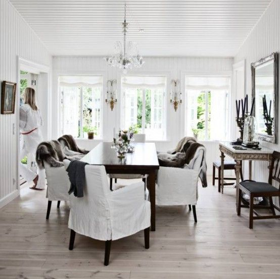 Scandinavian Country Style Interior Design Country Style Interiors Transitional House Dining Room Design