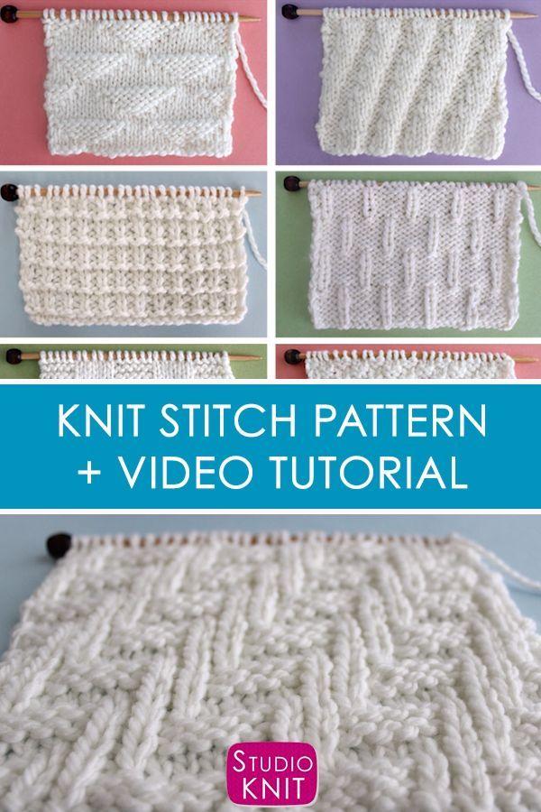 How to Knit the Diagonal Chevron Zigzag Knit Stitch ...