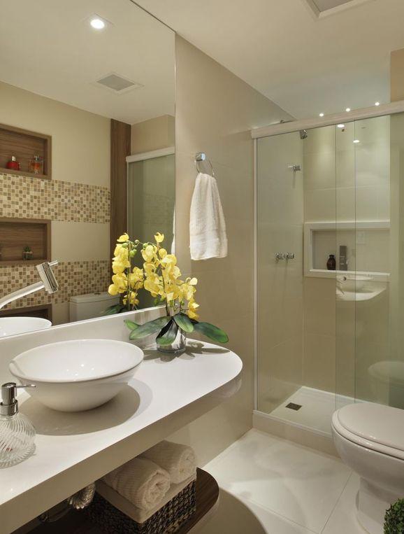 Decoração de banheiros pequenos é a resposta para a falta de espaço  Decorac -> Decoracao De Banheiro Com Ceramica Na Parede