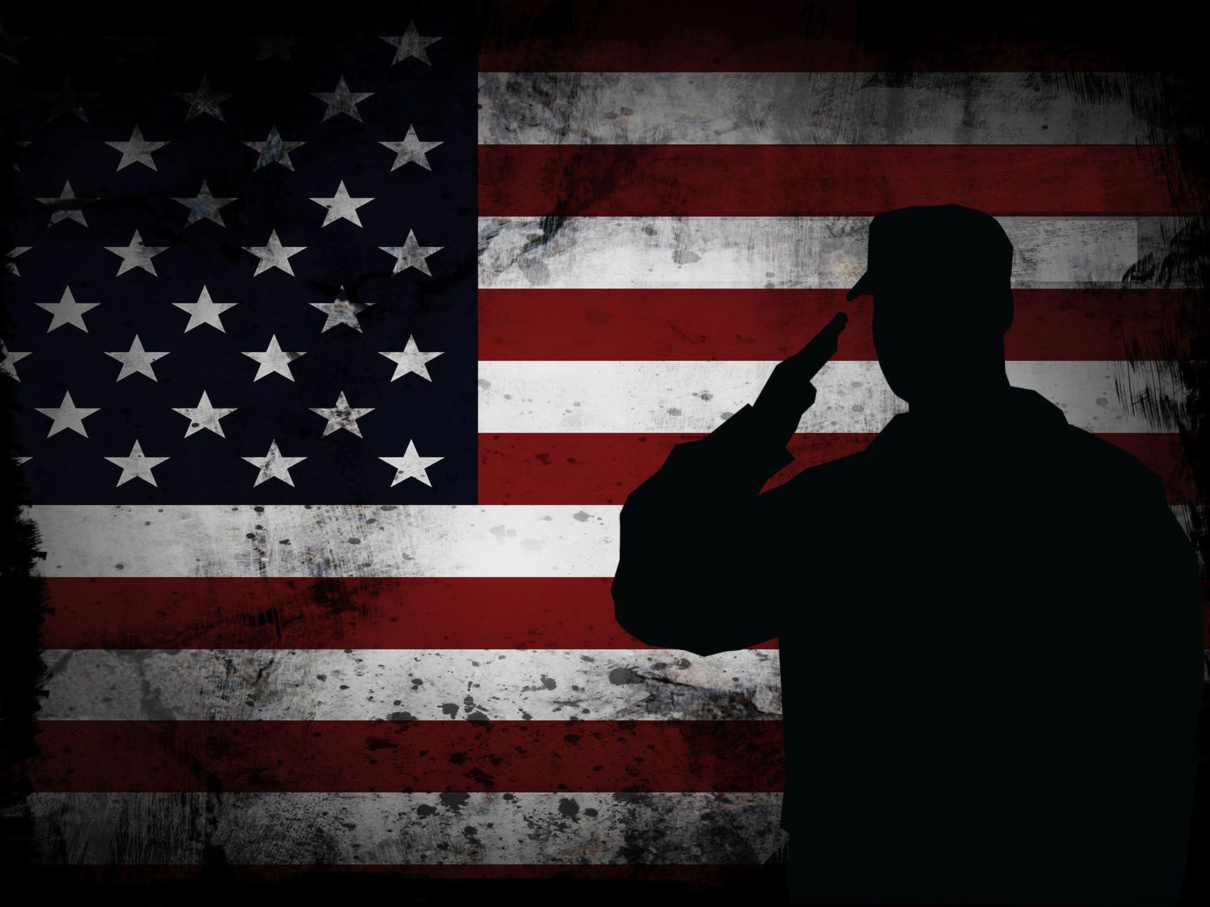 adcadc8e0574 US Marine Saluting the American Flag Military Wall Art Canvas Painting Decor