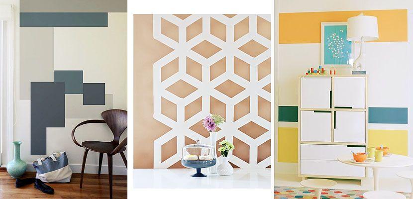 pintar paredes con formas geometricas - Buscar con Google ...