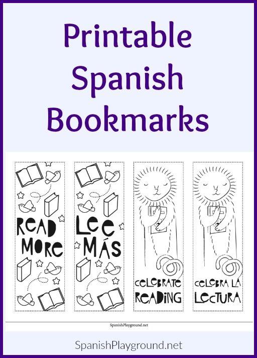 Printable Spanish Bookmarks Spanish Playground Learn Spanish Online Learning Spanish Bookmarks