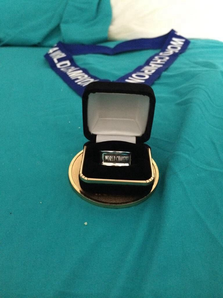 World ring and medal