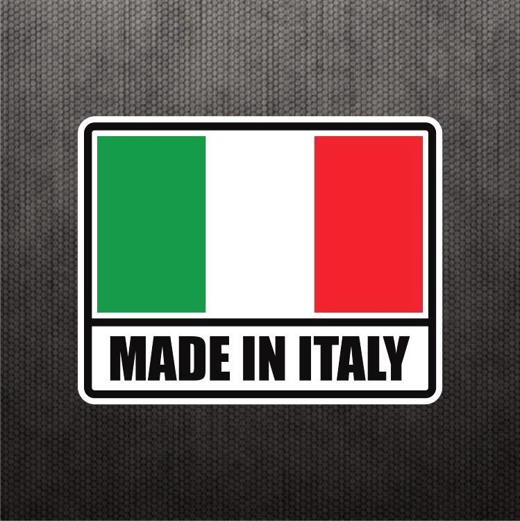 Made in italy flag sticker vinyl decal italian car sticker for fiat ducati bike