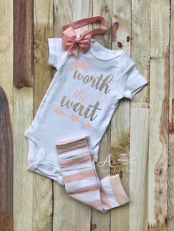 2c6472bf704d Worth the Wait Bodysuit - Baby Girl Bodysuit - New Baby Outfit ...
