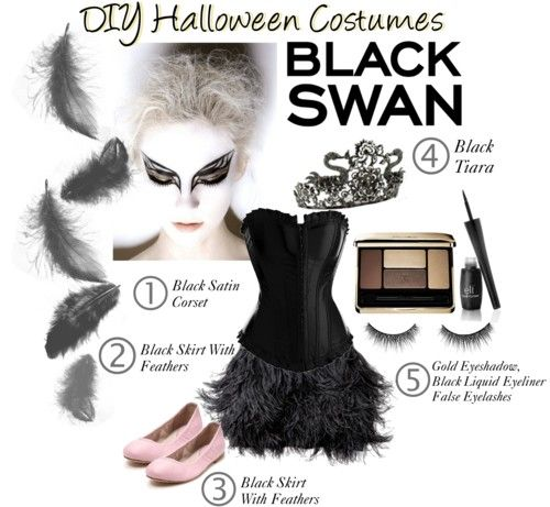 diy halloween costumes black swan halloween pinterest. Black Bedroom Furniture Sets. Home Design Ideas