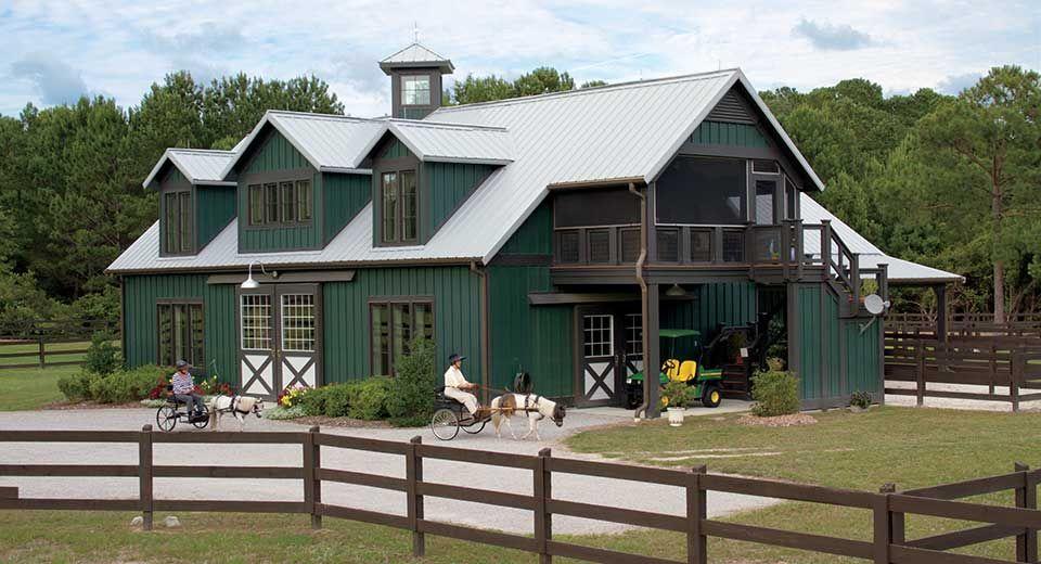 Shannau0027s Horse Barn Equestrian Barn Homes
