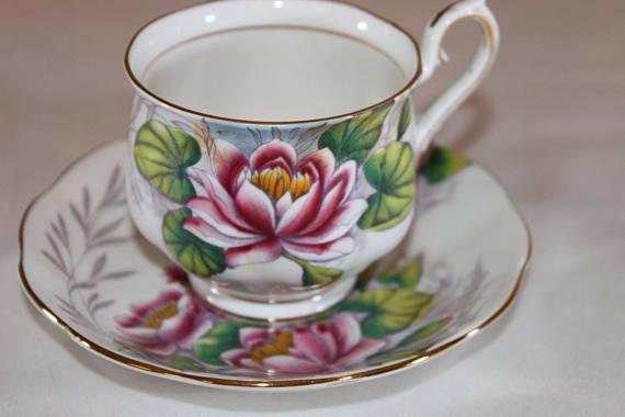 Vintage Royal Albert Teacup Morning Glory Flower Of The Month Series English Bone China Tea Set Wedding Table Brid Tea Cups Tea Cups Vintage Bone China Tea Set