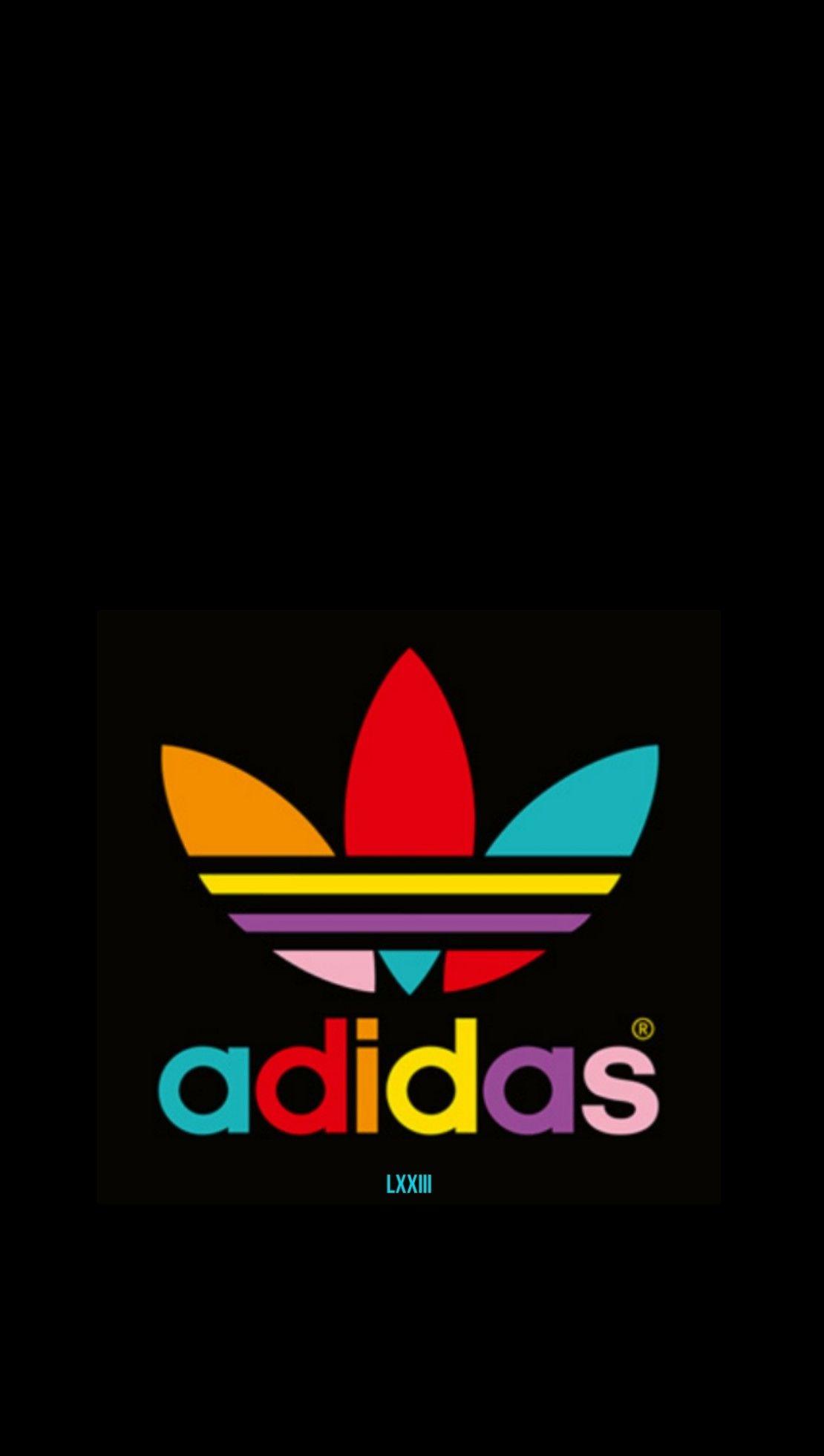 Colorful Adidas On Black Wallpaper Adidas Logo Wallpapers Adidas Wallpapers Adidas Iphone Wallpaper