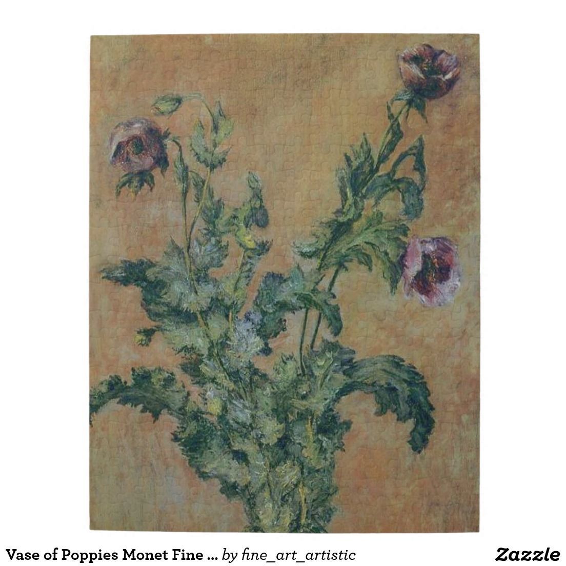 Vase of Poppies Fine Art Jigsaw Puzzle