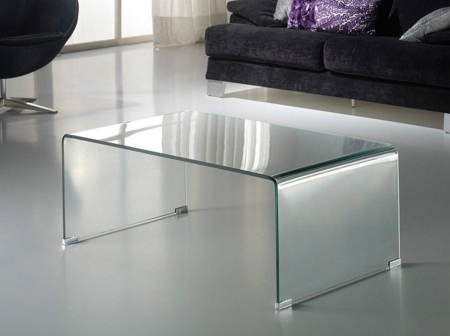 Mesa centro glass transparente muebles invisibles for Mesas de comedor cristal transparente