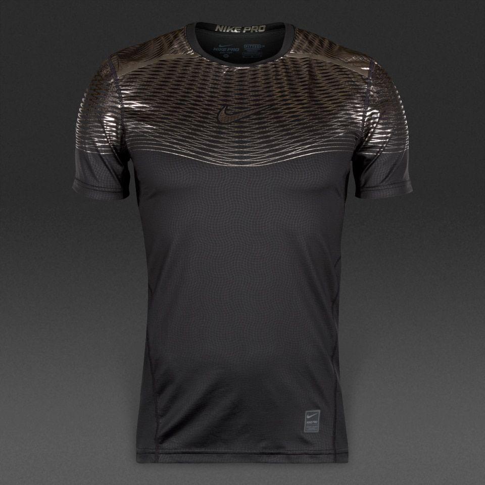 c4ad4c9de0054 Camiseta Nike Hypercool Max ajustada-Negro Titanio