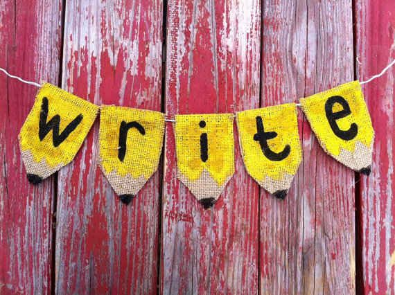 Yellow Classroom Decor : Make a cute bunting out of burlap. 36 clever diy ways to decorate