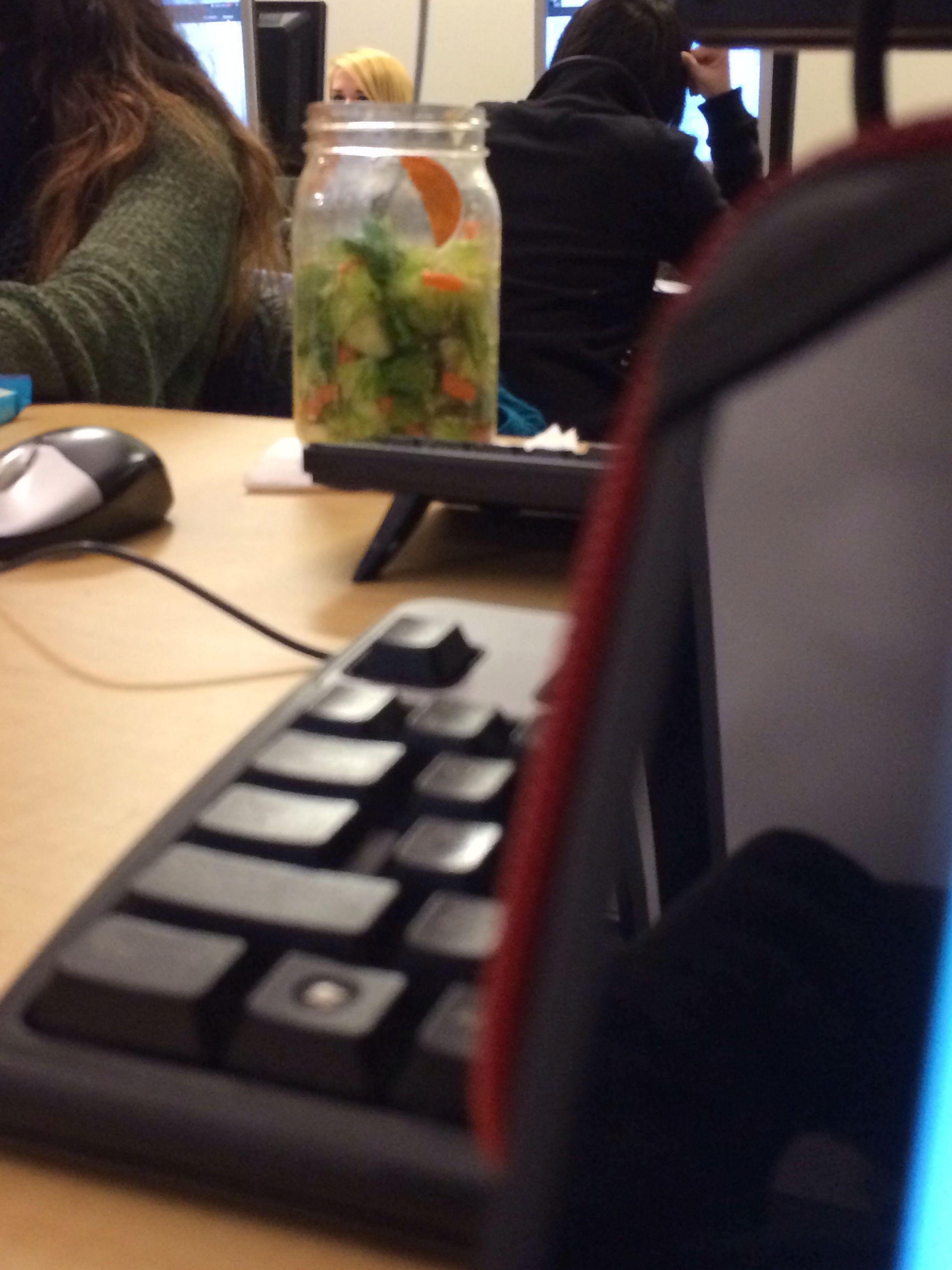 Salad in a jar for real! *excited snipe shot*