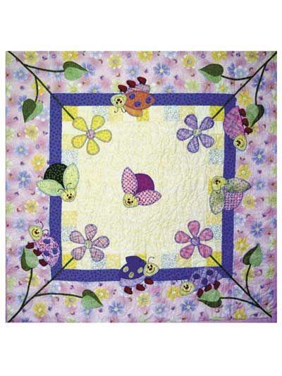 Annie's - Ladybug Gardens Baby Quilt Pattern | Quilts | Pinterest ... : baby quilt applique patterns - Adamdwight.com