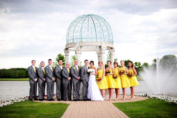 A Handmade Sweet Lively Gray Yellow Odyssey Country Club Wedding Fab You Bliss