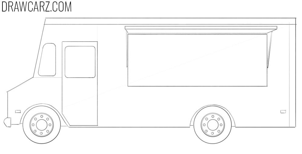 How To Draw A Food Truck A Food Food Truck Food