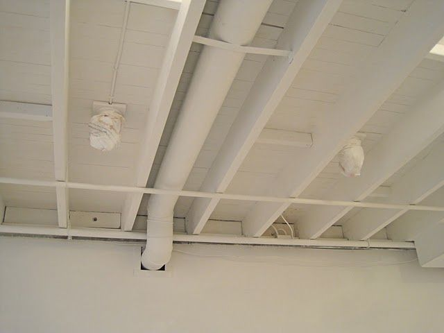 Painted Basement Ceiling   White. If We Leave Unfinished, I Do Like The  White