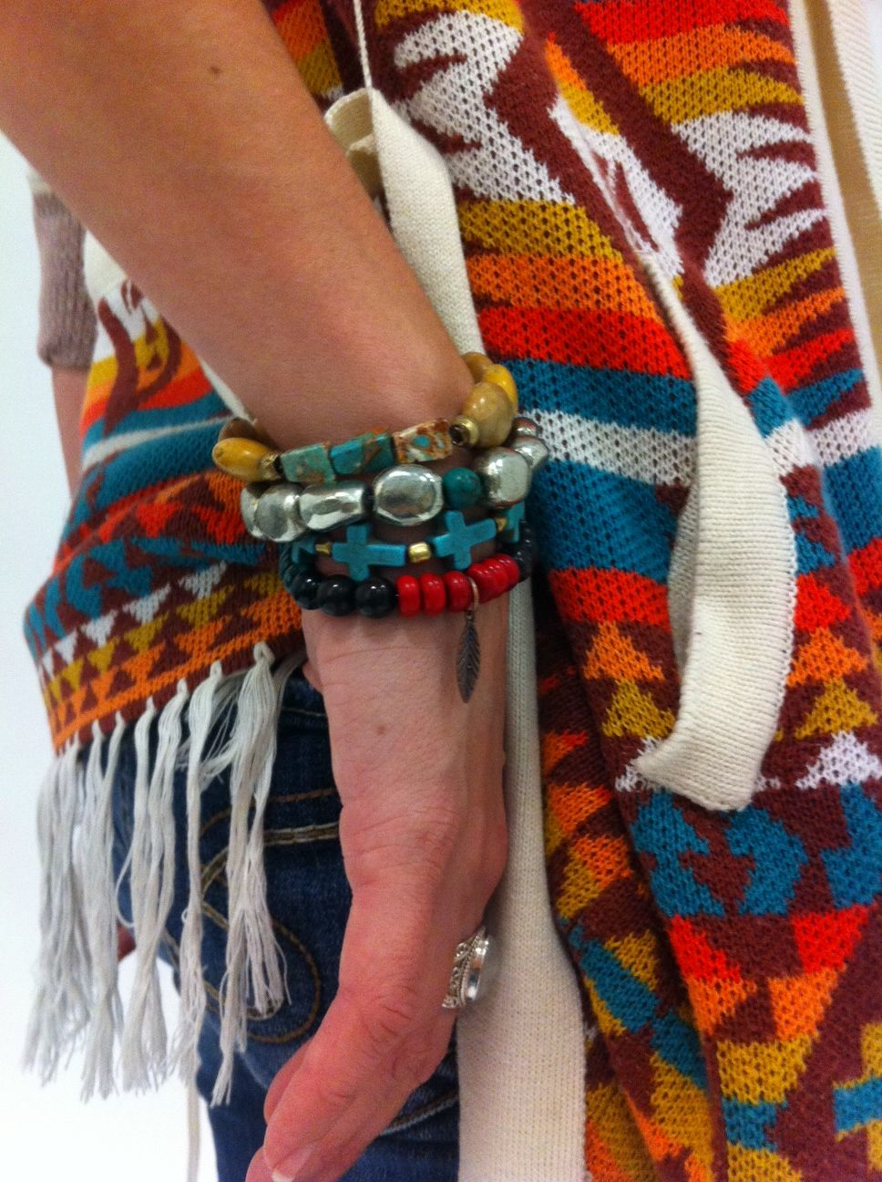 Love them with her sweater.  Rope the Moon Jewelry. #Bracelet