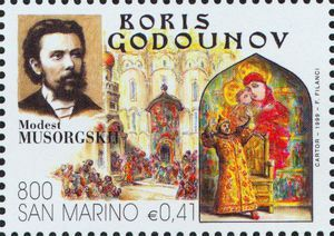 Mussorgsky - Boris Godounov stamp - Google Search