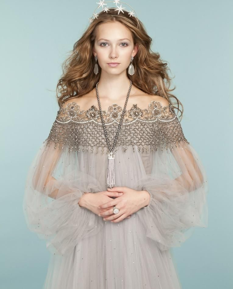 Embroidered Tulle Princess Dress