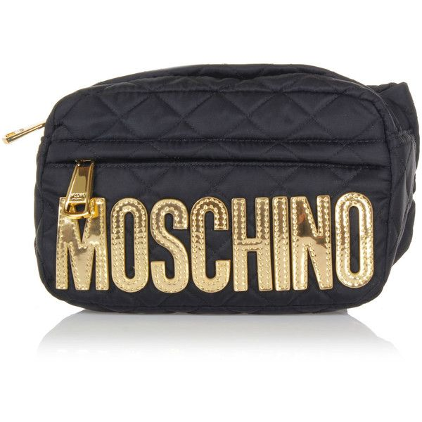Moschino Poche De Moschino Grand Sac En Cuir De Veau Noir 06S22hKli