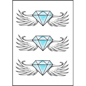 tatouage diamant aile d'ange   tattoos maybe   pinterest